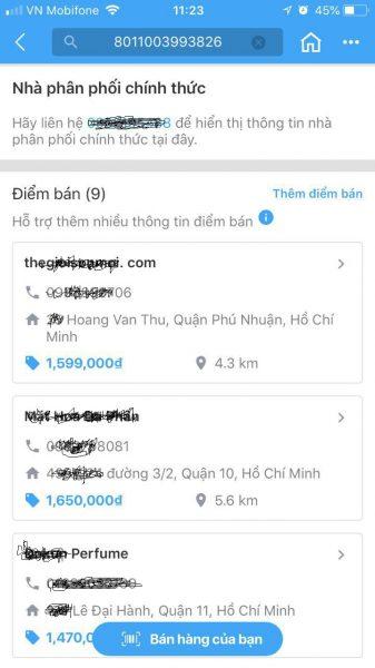 Check Mã Vạch (Barcode) Nước Hoa Có Chính Xác Không?